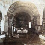 Imagen de la antigua iglesia románica de Santa Eulalia de Ujo antes de la reforma