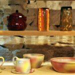 Cerámica artesanal en Najac en Aveyron al sur de Francia
