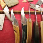 Artesanía de cuchillos y navajas en Najac en Aveyron