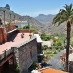 Roque Bentayga desde un mirador de Tejeda en la isla de Gran Canaria