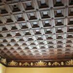 Techo de escayola en salón del Hotel Termas del Balneario de Archena