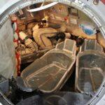 Interior de cápsula Soyuz en la Ciudad del Espacio en Toulouse