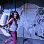 Simulador de paseo por la Luna en la Ciudad del Espacio en Toulouse