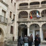 Palacio de Justicia en la plaza Mayor de Trujillo en Extremadura