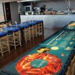 Espacio del pescado para show cooking de cocina pesquera en Palamós