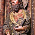 Apóstoles en el Pörtico de la iglesia de Santa María de Laguardia