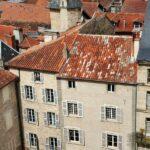 Vistas panorámicas de la bastida Villefranche de Rouergue al sur de Francia