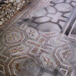 Mosaicos de la Villa Romana de Veranes cerca de Gijón
