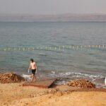 Tras el baño en el Mar Muerto en Jordania