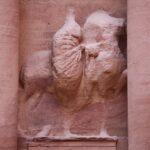 Detalle de la fachada del Tesoro de Petra en Jordania