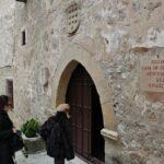 Entrada al hotel Casa de Orellana en Trujillo en Extremadura