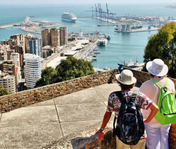 Vistas panorámicas de Málaga desde el Castillo de Gibralfaro
