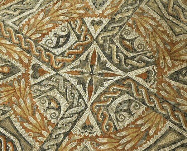 Mosaico en la villa romana de La Olmeda en Palencia @Turismo Palencia