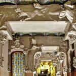 Decoración interior de la casa modernista Lleó y Morera en Barcelona