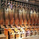 Coro de la catedral gótica de Rodez al sur de Francia