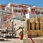 Hotel en la entrada al recinto de Petra en Jordania