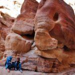 Desfiladero Siq en Petra en Jordania