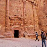 Tumbas nabateas en Petra en Jordania