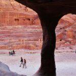 Teatro romano en Petra en Jordania