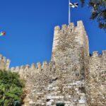 Murallas del Castillejo en el castillo de San Jorge en Lisboa
