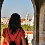 Castillejo en el recinto del castillo de San Jorge en Lisboa