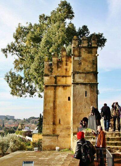 Alcázar de los Reyes Cristianos en Córdoba en Andalucía