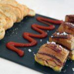 Milhoja de cecina, trufa y foie en rest El Prigó de Catí