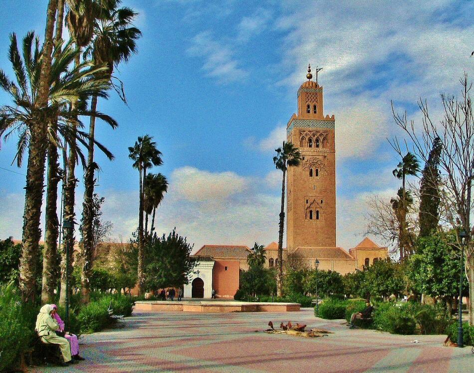Mezquita Koutoubia en Marrakech en Marruecos