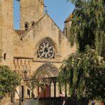 Iglesia gótica de Santa María la Real en Olite en Navarra