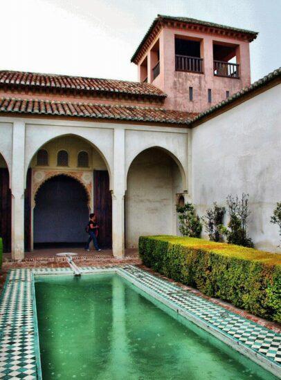 Patio interior del Pabellón de la Alcazaba de Málaga