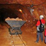 Interior de la mina de hierro de la Victoria en el Alto Maestrazgo