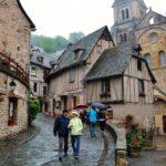 Pueblo medieval de Conques en Aveyron al sur de Francia