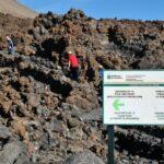 Senderos junto al teleférico del Teide en Tenerife