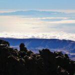 Vistas panorámicas de Gran Canaria desde el Teide en Tenerife