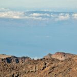 Vistas panorámicas de La Gomera desde el Teide en Tenerife