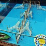 Maqueta de sistema de pesca en la Albufera de Valencia