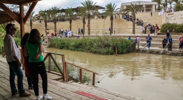 Río Jordán en Betania en Jordania