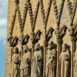Detalle de la portada de la iglesia de Santa María la Real en Olite