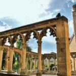 Arcada de la iglesia de Santa María la Real en Olite