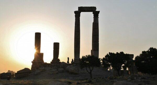 Templo de Hércules en la Ciudadela de Amán en Jordania