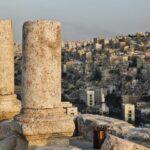 Restos arqueológicos en la Ciudadela de Amán en Jordania