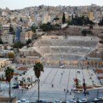 Vistas del teatro romano de Amán desde la Ciudadela