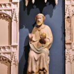 Figura gótica de San Salvador en la iglesia de Culla en Alto Maestrazgo