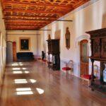 Galeria interior del castillo de Belmonte en Cuenca