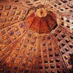 Cúpula artesonada en el castillo de Belmonte en Cuenca