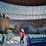 iglesia de piedra Temppeliaukio en Helsinki