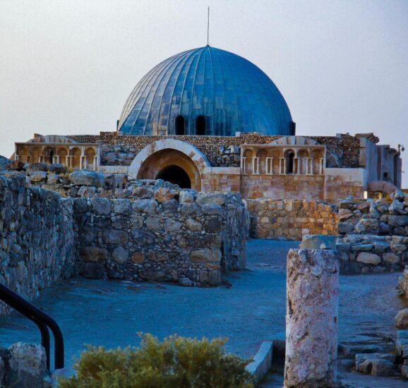 Palacio de los Omeya en la Ciudadela de Amán en Jordania