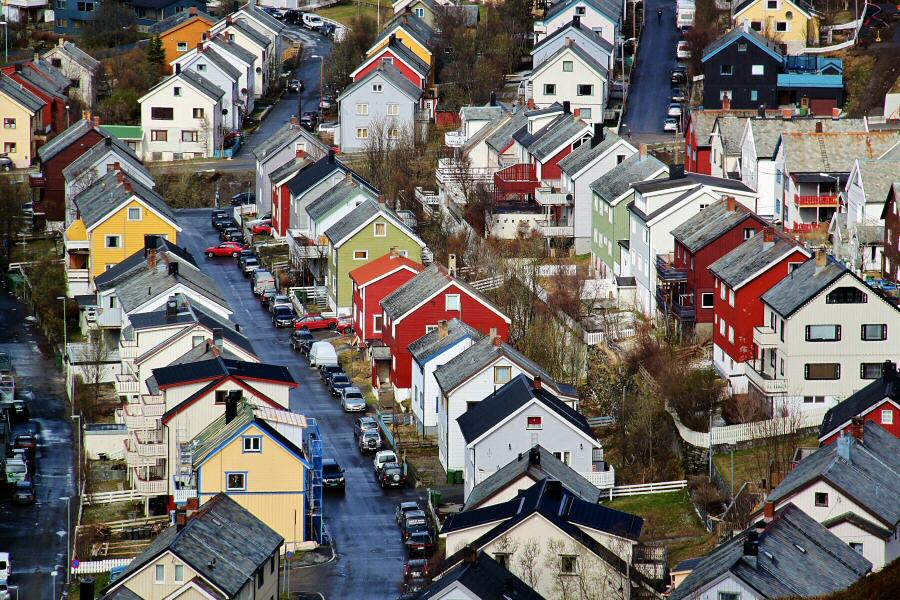 Hammerfest al norte de Noruega