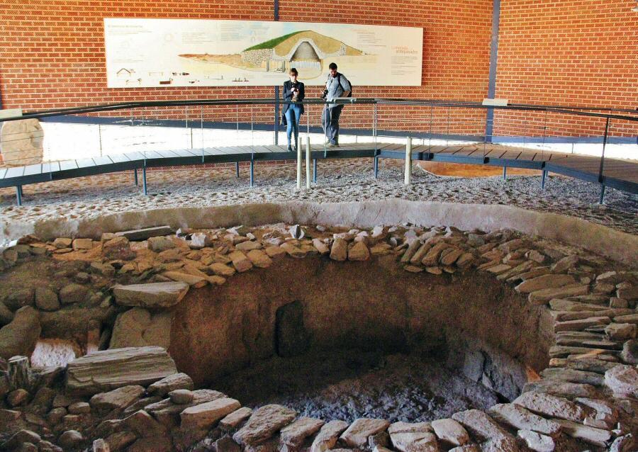 Sepulcro prehistórico de Huerta Montero en Almendralejo en Badajoz