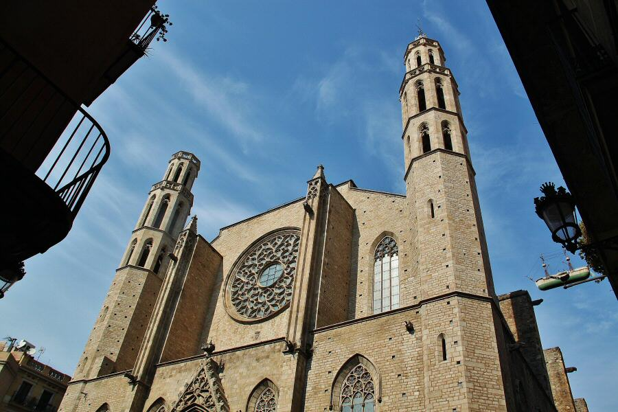 Basílica de Santa María del Mar en Barcelona